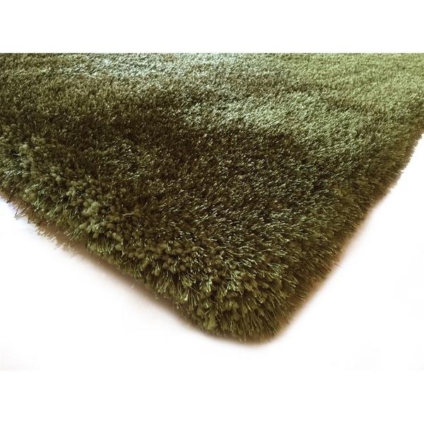 Handmade Hunter Green Shag Area Rug 5 X 7 17611647