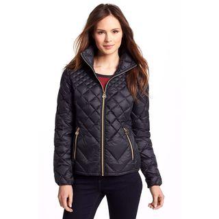 9fa7df952532 review detail Michael Michael Kors Black Diamond Quilted Packable Jacket  Coat
