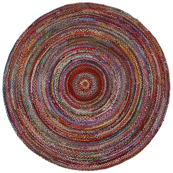 Brilliant Ribbon Multi Colored 3 X3 Round Rug