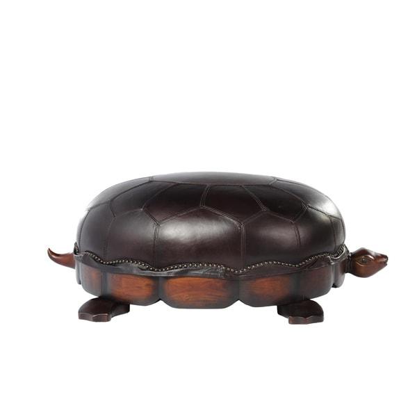 Lazzaro Leather Franklin Large Toberlone Turtle Ottoman
