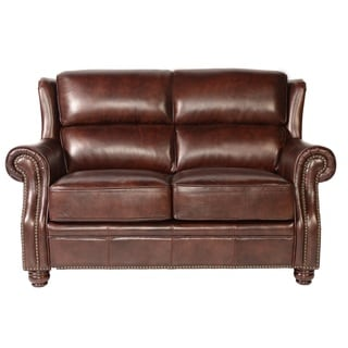Cole Cleo Black Leather Loveseat 14097462 Overstock