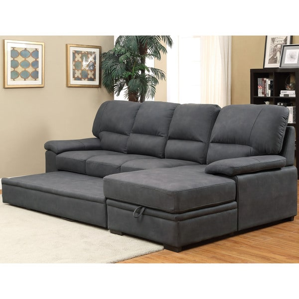 Furniture Of America Delton Contemporary Faux Nubuck