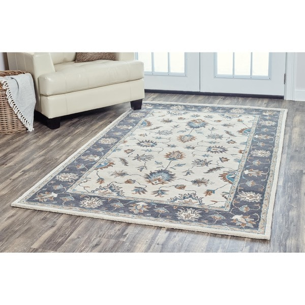 Arden Loft Crown Way Natural/ Charcoal Grey Oriental Hand-tufted Wool Area Rug - 5' x 8'
