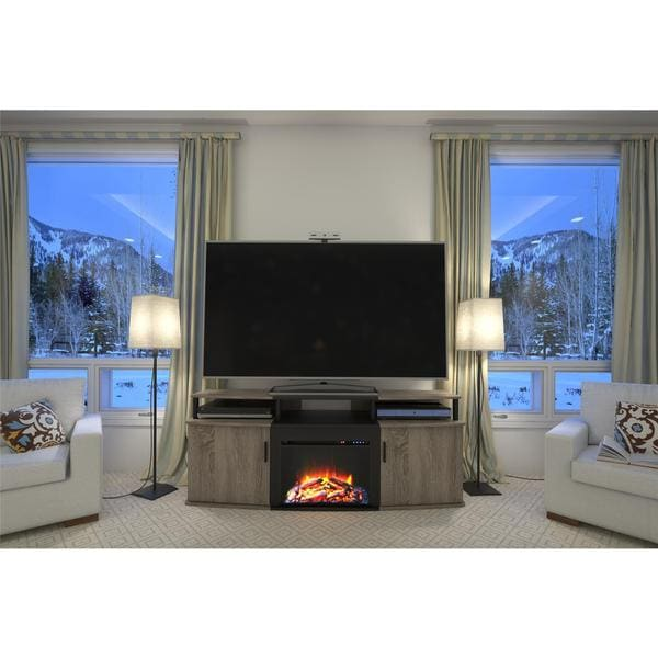 Altra Sonoma Oak Carson 70 Inch Fireplace Tv Console