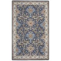 Arden Loft Crown Way Charcoal Grey/ Beige Oriental Hand-tufted Wool Area Rug - 5' x 8'