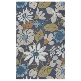 Martha Stewart Poppy Field Azurite Blue Wool Viscose Rug