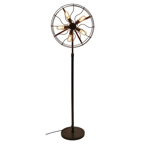 Ozzy Industrial Vintage Fan Floor Lamp 17623125