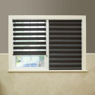 Upscale Designs Sheer Grey Striped Roller Blind 17977862
