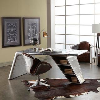 Sunpan Ikon Madero Contemporary Wood Desk With Drawers