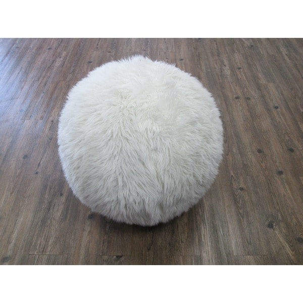 Yoga Ball With Furry Slip Cover