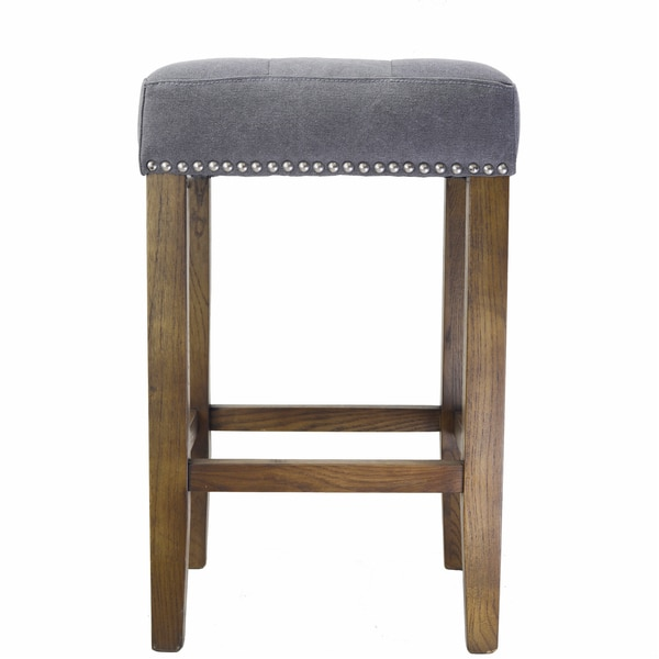 Ash Counter Stool With Brass Nailheads Overstock