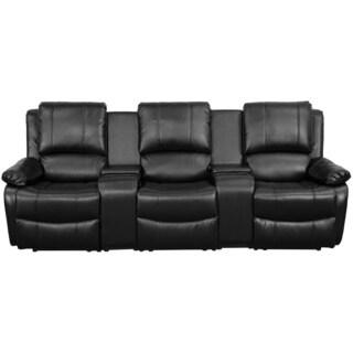 Smart Tech Bluetooth Power Reclining Black Sofa And