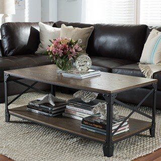 Renate Brown Grey Coffee Table 13506140 Overstock Com