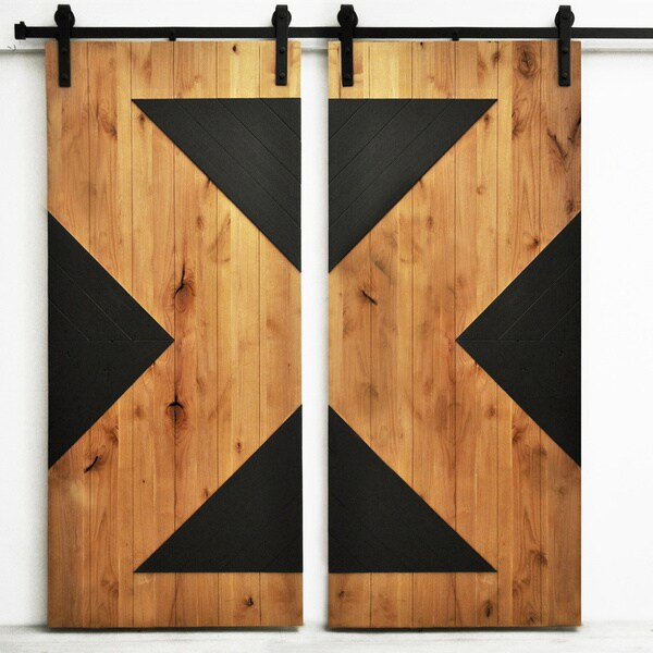Dogberry Zig Zag 82 Inch Double Barn Overstock Shopping