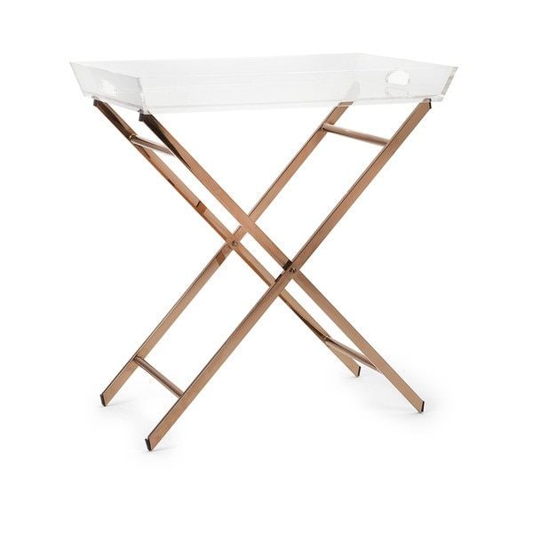 Clinton Acrylic Tray Table 17638516 Overstock Com
