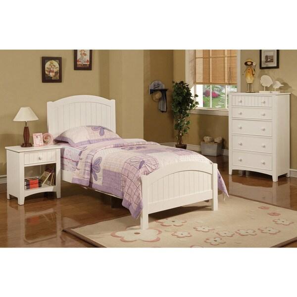 Discount Childrens Bedroom Furniture: Hlobyne White 3-piece Youth Bedroom Set
