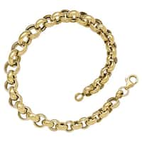 Versil 14k Gold Polished Fancy Link Bracelet
