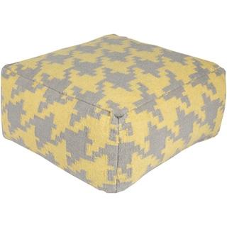 Geometric Miya Square Polyester 24 Inch Pouf 17535770