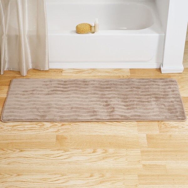 Windsor Home Memory Foam Extra Long Bath Rug Mat Taupe