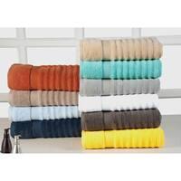 Quick Dry Elegance Spa Cotton Ribbed 6-piece Towel Set