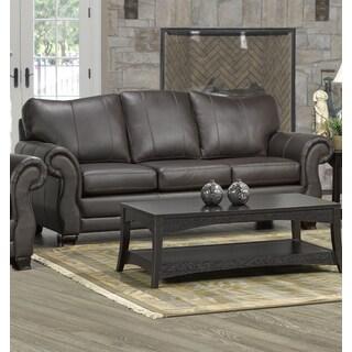 Brompton Cocoa Brown Italian Leather Oversize Sofa