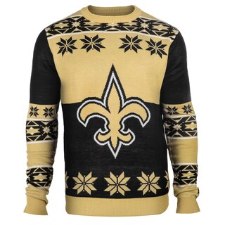 Forever Collectibles NFL New Orleans Saints Big Logo Crew Neck Ugly Sweater | Overstock.com Shopping - The Best Deals on Football