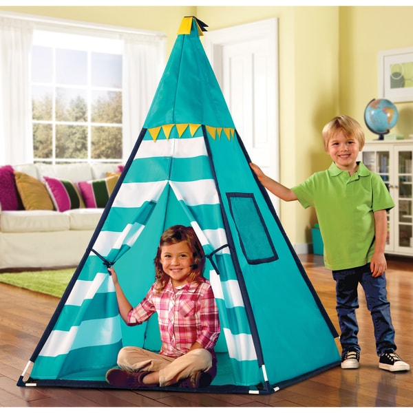 Discovery Kids Turquoise Adventure Teepee Tent 17653840