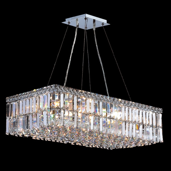 A Modern Art Deco Home Visualized In Two Styles: Modern Art Deco Style 16 Light Chrome Finish Clear Crystal