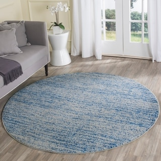 Safavieh Deco Waves Blue Shag Rug 5 Round 15069938