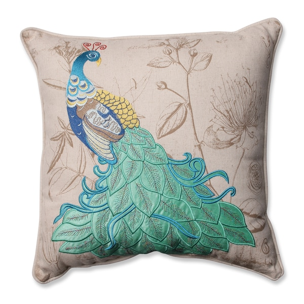 Pillow perfect peacock applique 16.5 inch corded throw pillow db0935bb 02eb 4cde 87bf 75de87229ea8 600