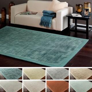 Hand Tufted Pulse Aqua Wool Rug 5 X 8 13284039