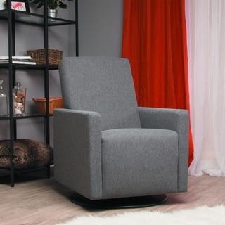 Hampton Charcoal Grey Nursery Swivel Glider Recliner Chair