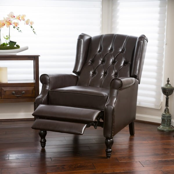 Christopher Knight Home Walter Brown Bonded Leather