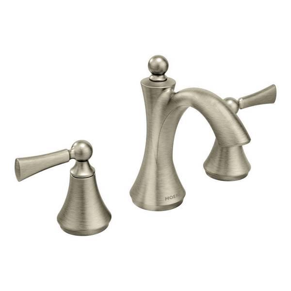Moen Wynford Mini Widespread Brushed Nickel Bathroom