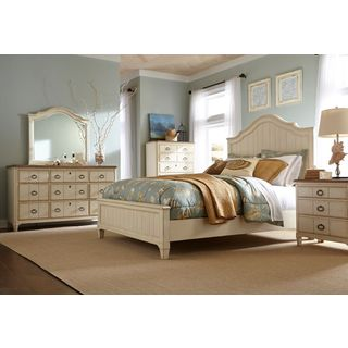 Panama Jack Millbrook Buttermilk Queen Panel Bed And 9