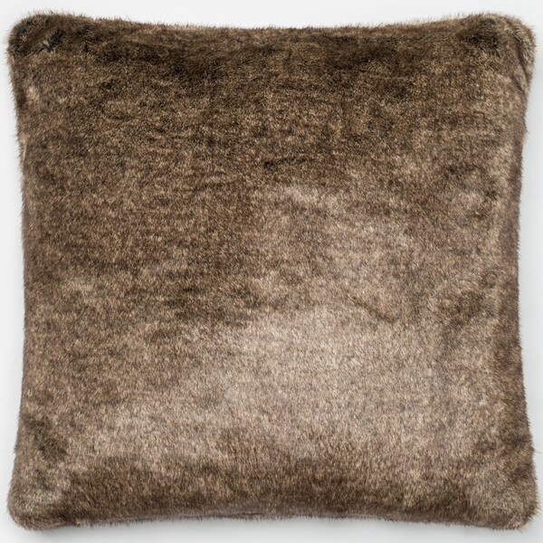 Faux Fur Light Brown Down Feather Or Polyester Filled 22