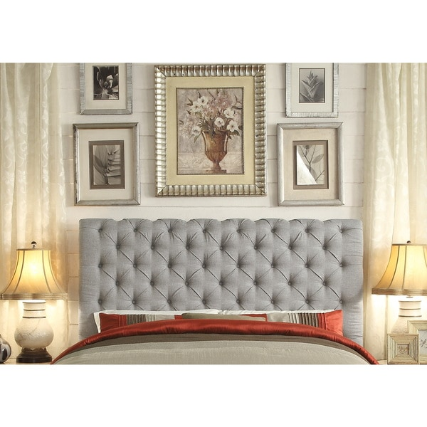 Moser Bay Furniture Calia Gray Tufted Upholstery Queen