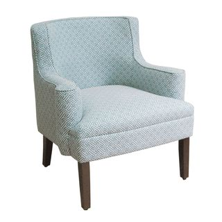 Contemporary Stripes Pattern Fabric Accent Chair