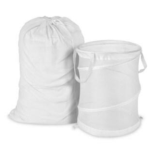 Heavy Duty Jumbo Sized Nylon Laundry Bags Set Of 2
