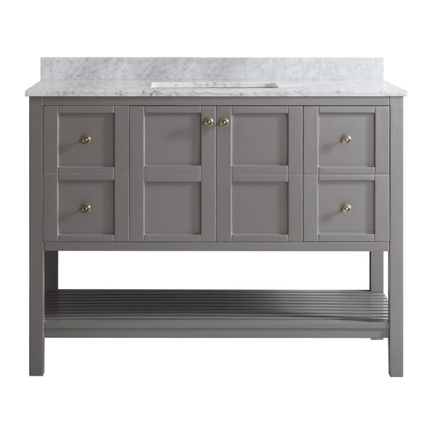 Vinnova florence 48 inch grey mirrorless single mirrorless - Discount bathroom vanity and sink combo ...