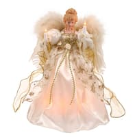"""12"""" White/Gold Angel Feather Wings"""
