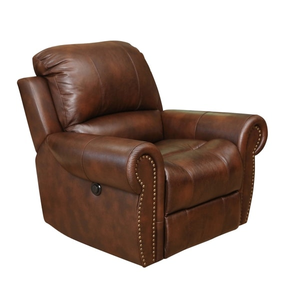 Abbyson Living Sterling Top Grain Leather Power Recliner