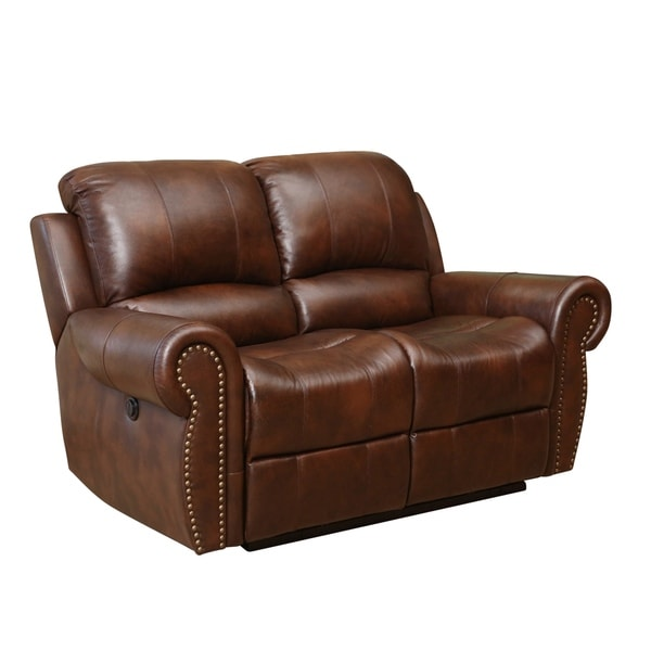 Abyson Living Sterling Top Grain Leather Power Reclining