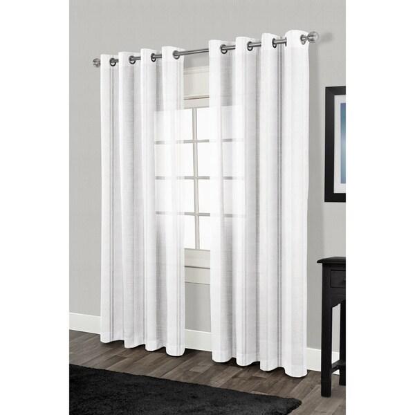 Ati Home Apollo Grommet Top Sheer Curtain 84