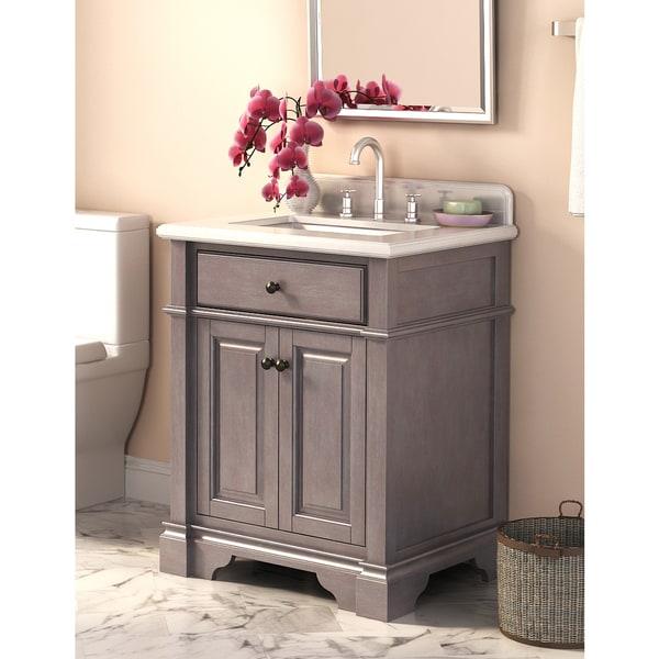 28 Inch Bathroom Vanity With Sink: Casanova 28-inch Vanity With Backsplash