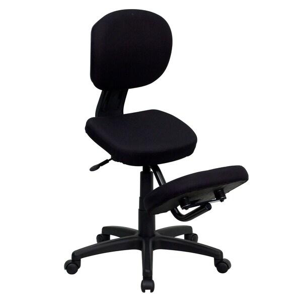 Mobile Ergonomic Kneeling Posture Task Chair In Black