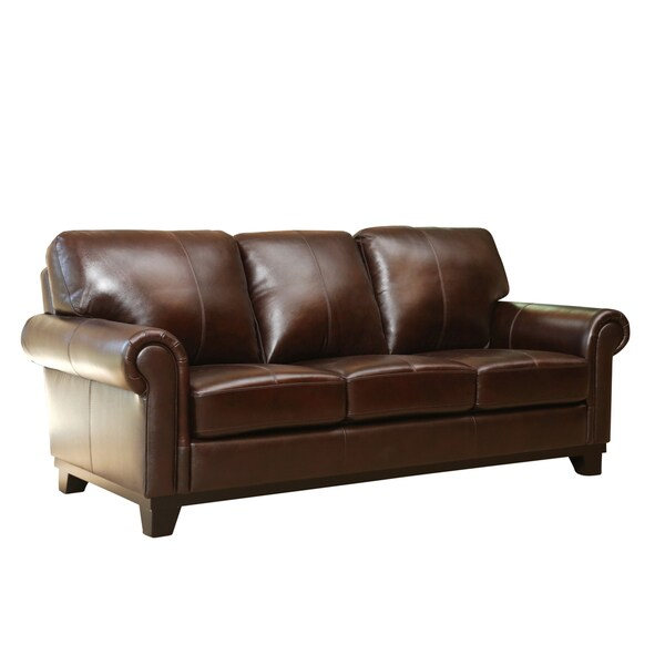 Abbyson Living Hamilton Top Grain Leather Sofa 17677747