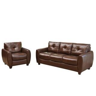 Abbyson Living Lexington 3 Piece Premium Top Grain Leather
