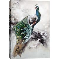 Peacock 31.5-inch x 47.25-inch Oil Wall Art