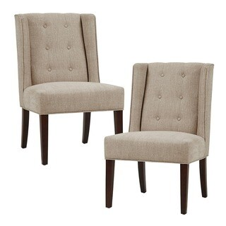 Park Avenue Smoke Linen Dining Chair Set Of 2 16670547